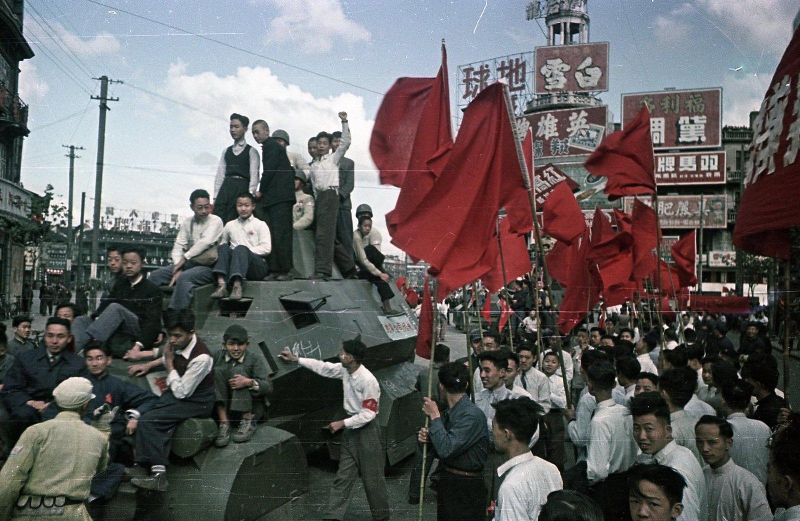 1949. Шанхай. Встреча войск Народно-освободительной армии (НОА) Китая (3)