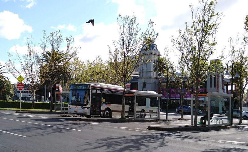 Moonee Ponds bus interchange