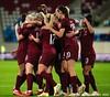 England celebrate Beth England's goal