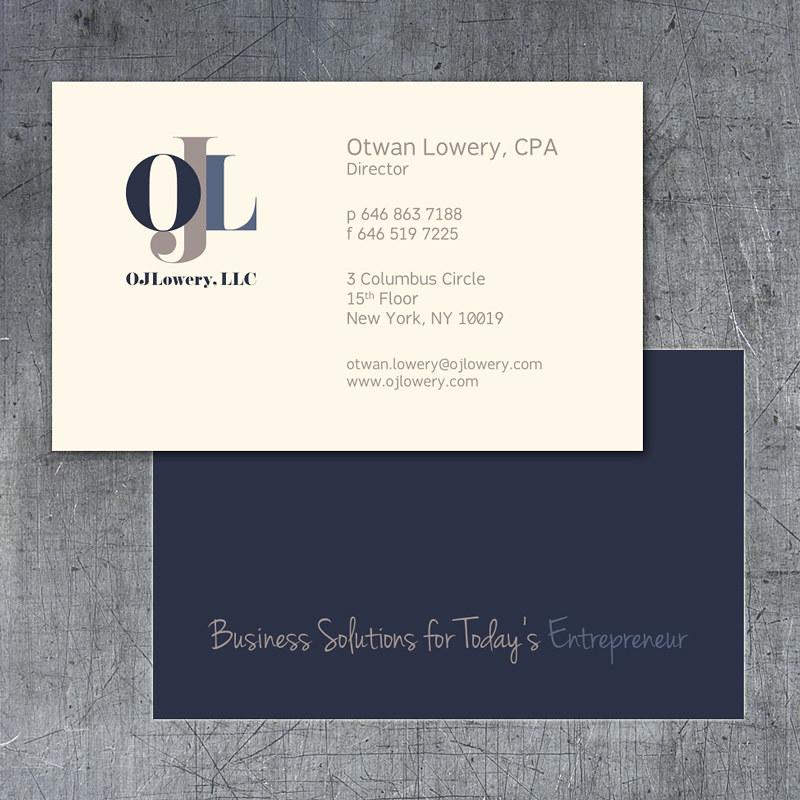 OJ Lowery Business Cards