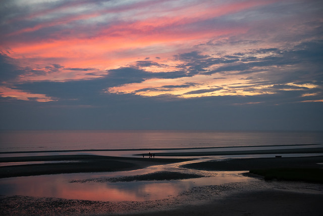 Sunset on Tidal Flats, Eastham