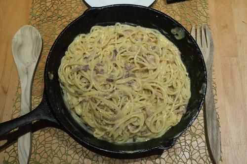 Spaghetti alla carbonara (für 2 Personen)
