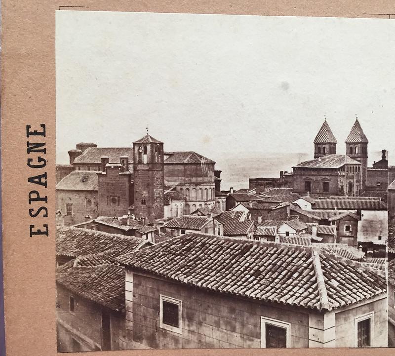 Santiago del Arrabal en 1857 por Eugène Sevaistre. Colección Luis Alba.