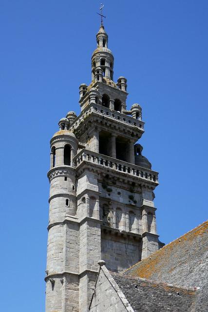 Clocher Renaissance, église Notre-Dame de Croaz Batz,  Roscoff, Pays de Léon, Finistère, Bretagne, France.