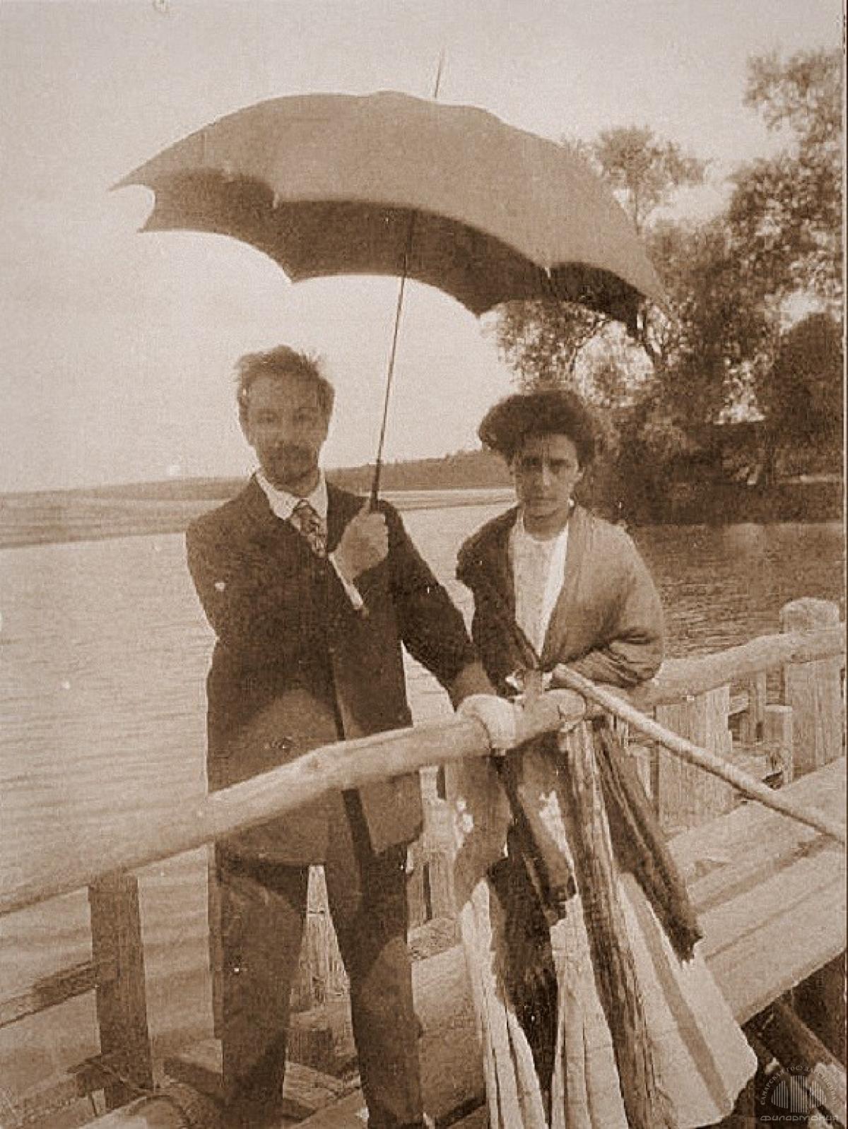 1911. А.Н. Скрябин и Т.Ф. Шлёцер-Скрябина