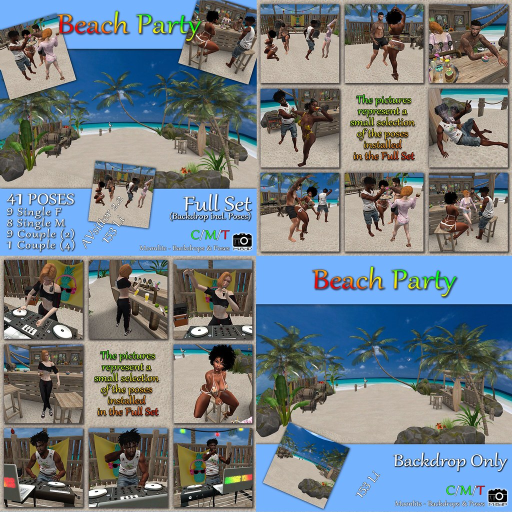 M-BdP :: Beach Party Backdrop – Exclusive for POSEvent