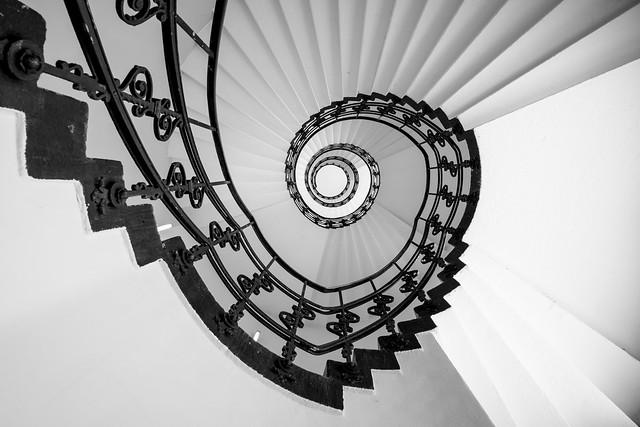 Hamburg - looking up - staircase