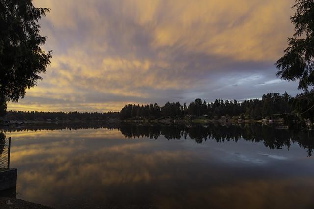 Morning Sunrise at Steilacoom Lake - Lakewood, Washington