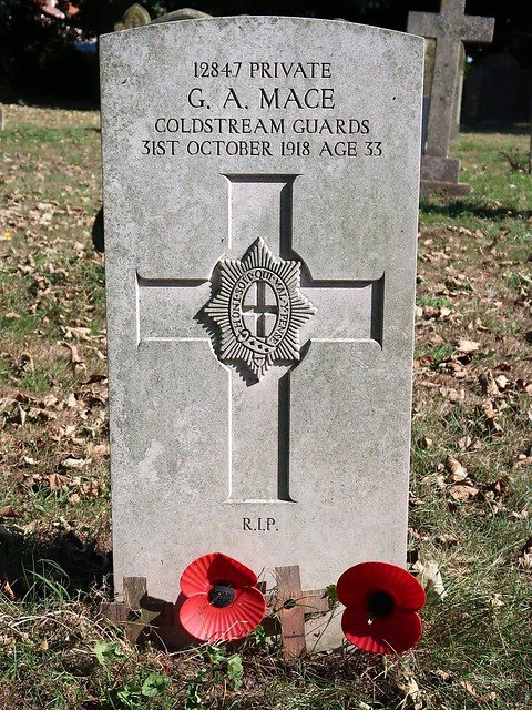 CWGC headstone - Pte. George Mace, Coldstream Guards