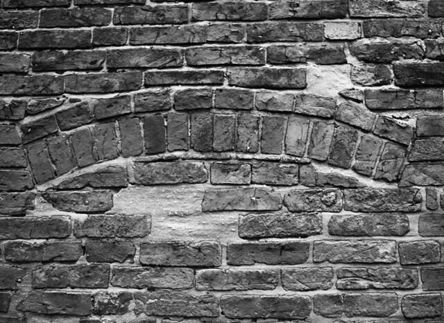 Blacksmiths, an old entrance - black & white sudy
