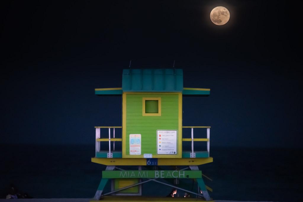 Miami Beach Full Moon