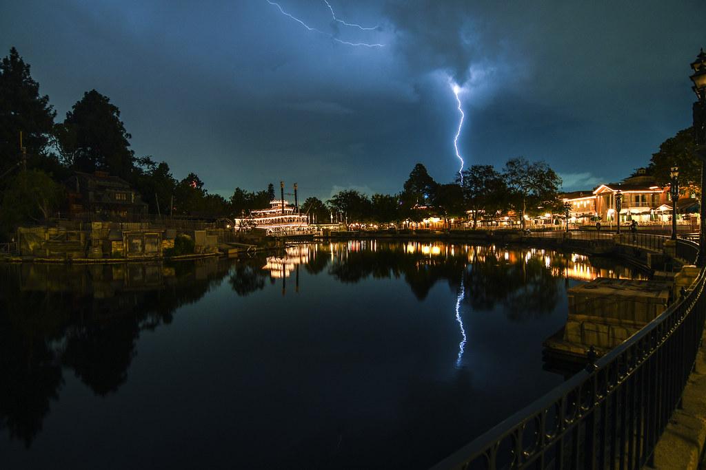 Lightning over the river wide DL