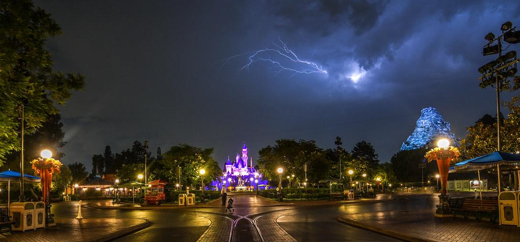 Lightning above castle DL