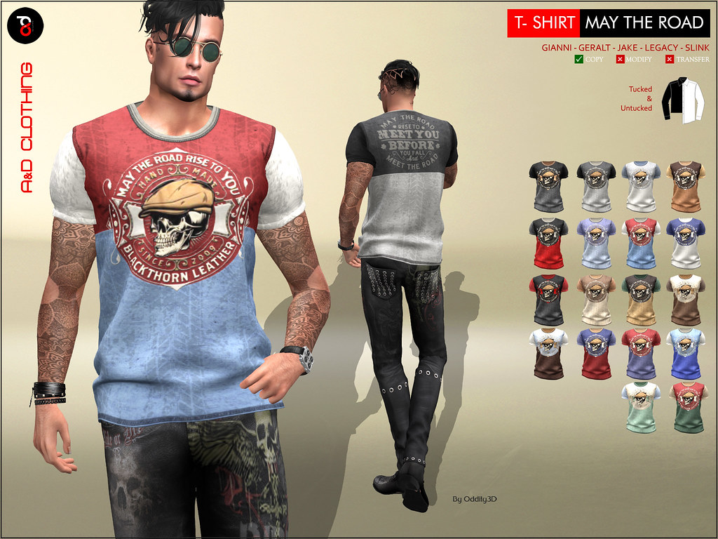 ! A&D Clothing – T-Shirt -May the Road-  NEW RELEASE
