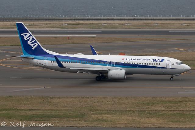 JA54AN Boeing 737-800 All Nippon Airways Nagoya Centrair Airport RJGG 04.06-18
