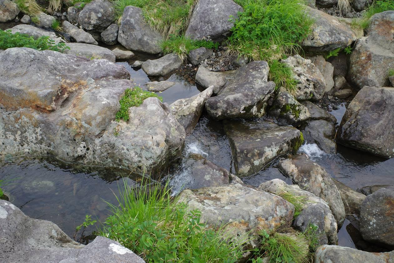 鳥海山・賽の河原の水場
