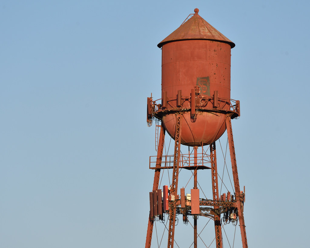Water Tower, With Antennae