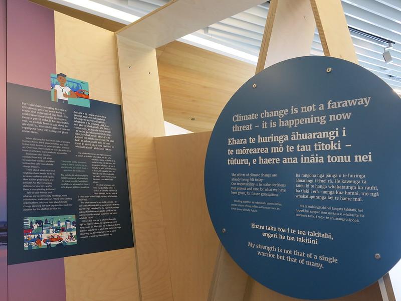Our Climate Future Exhibition at Tūranga