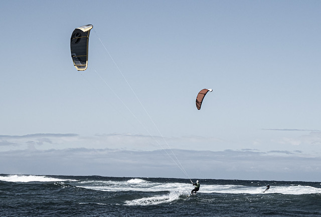 Kite Surfers in the Bay