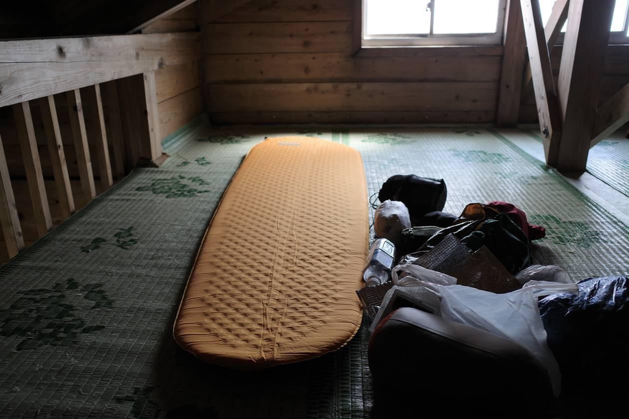 鳥海山・山頂御室小屋の寝室