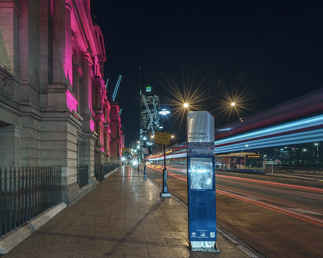 The Treasury Building and Light Trails - 2