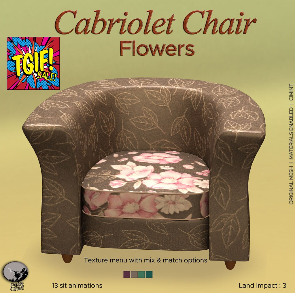 Petit Chat : Cabriolet Chair (Flowers) @ TGIF sales