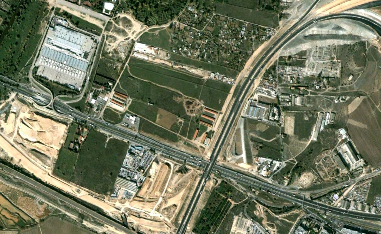 enlace M-45 con A-2, san fernando de henares, madrid, enlace o rotondas, antes, urbanismo, planeamiento, urbano, desastre, urbanístico, construcción