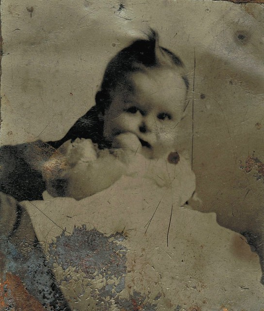 Damaged gem tintype