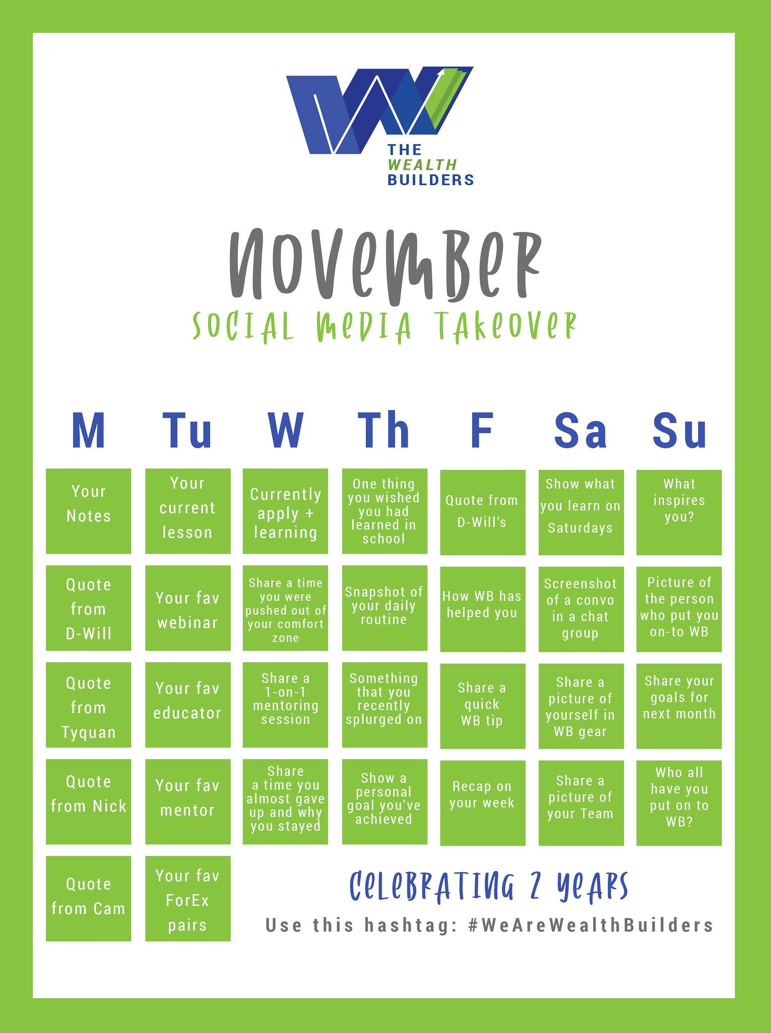 November Social Media Takeover Flyer