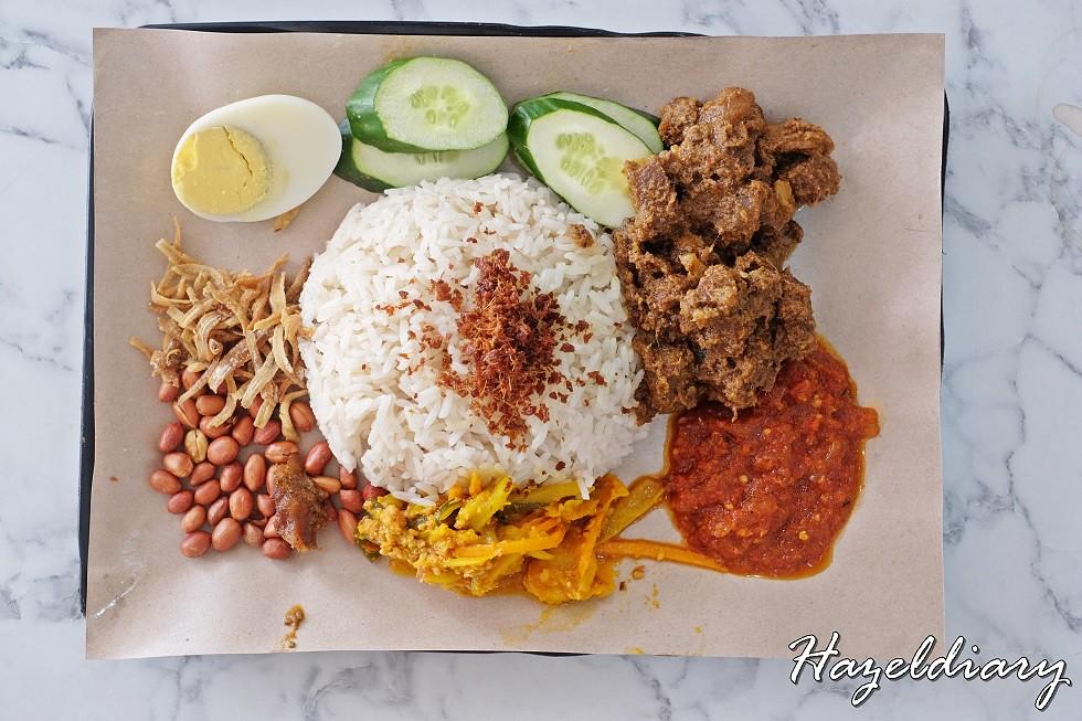 Uptown Nasi Lemak Telok Ayer-Nasi Lemak with Beef Rendang