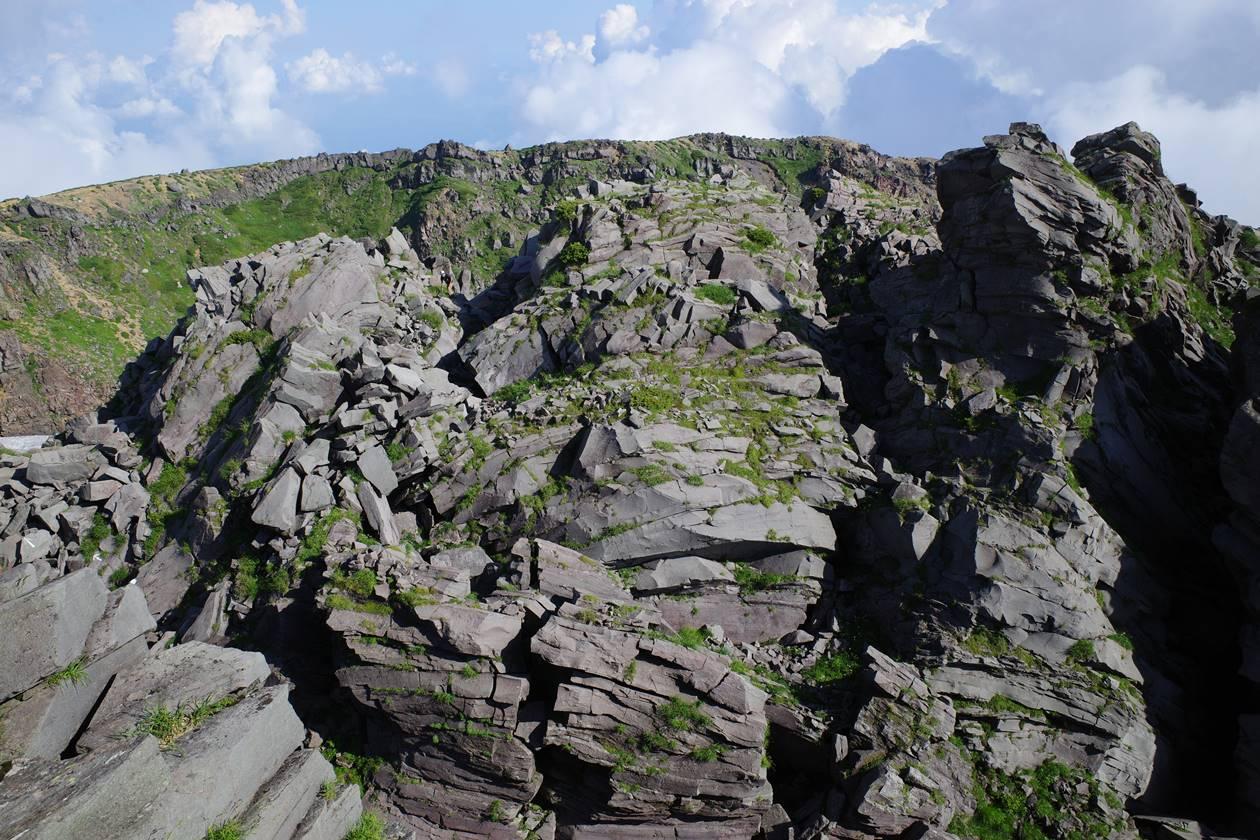 鳥海山 山頂の岩場
