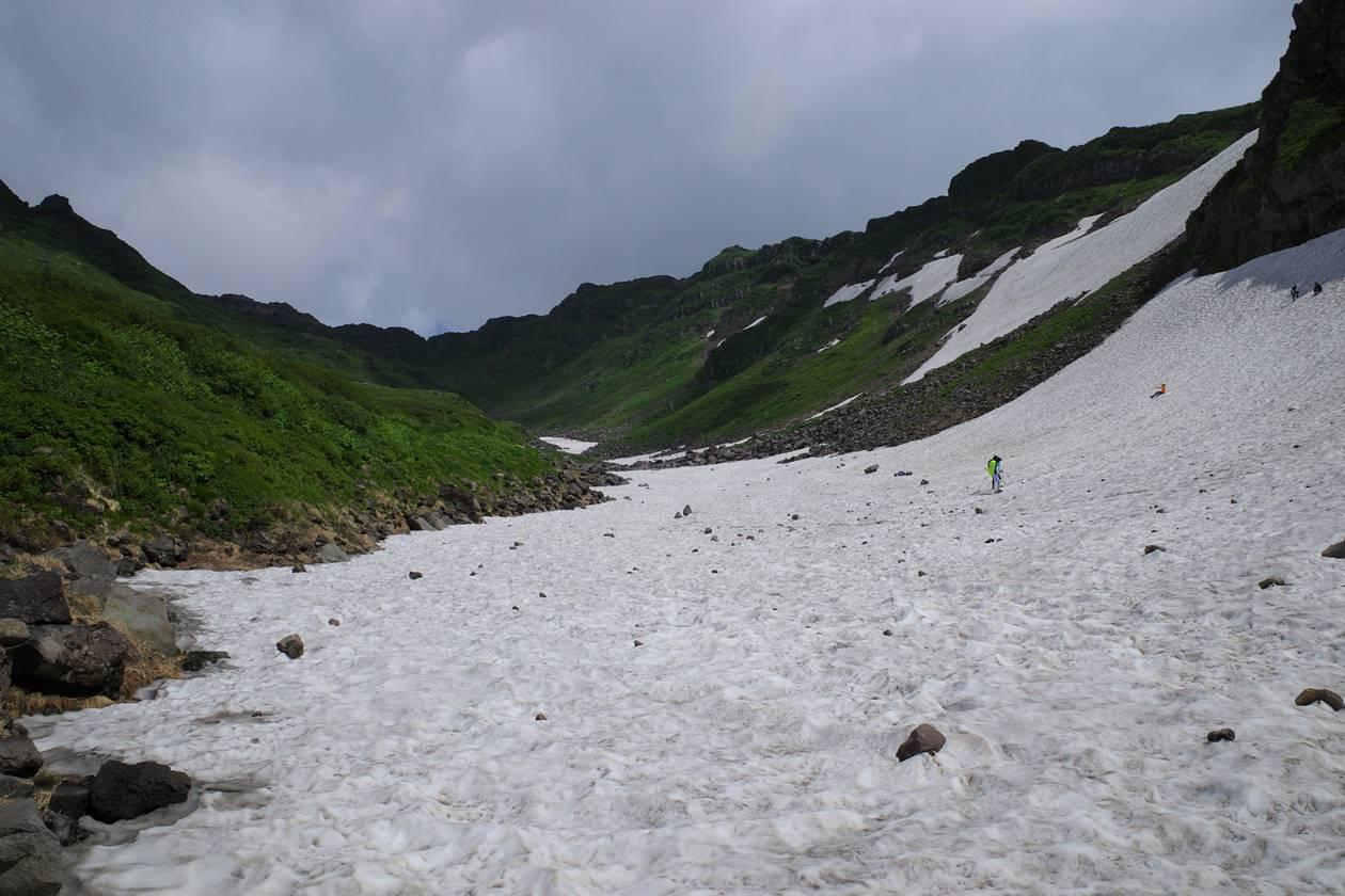 鳥海山 雪渓登山