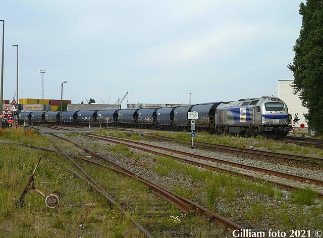 Europorte 4015 te Antwerpen haven.