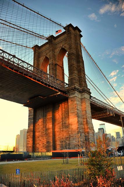 The East Column of the Brooklyn Bridge