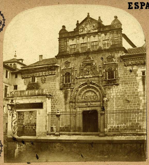 Hospital de Santa Cruz en Toledo en 1857 por Eugène Sevaistre. Archivo Municipal, Ayuntamiento de Toledo (Colección Luis Alba)