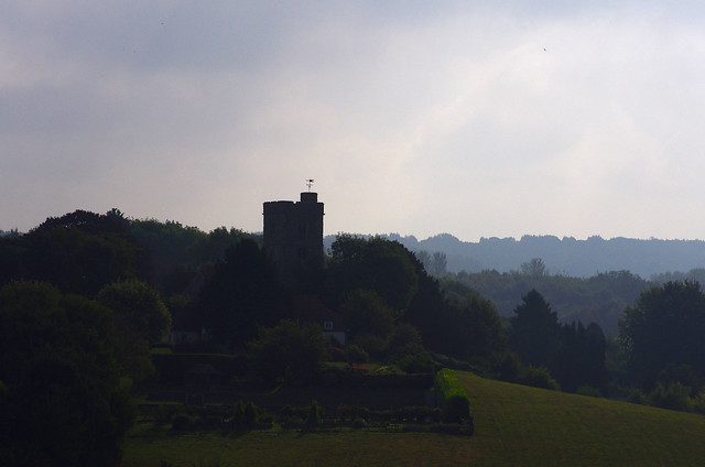 Mist over the valley across to St Peter and St Paul...