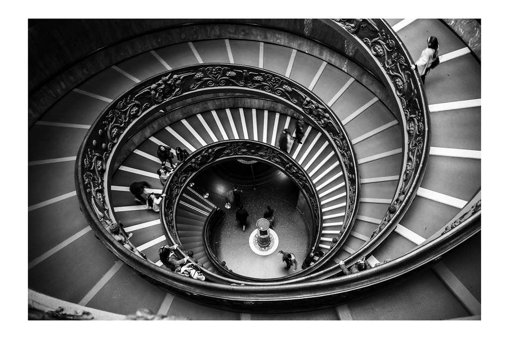 Scala del Bramante. . Shot with Canon EOS 6D. EF 24-70 F4 L IS USM