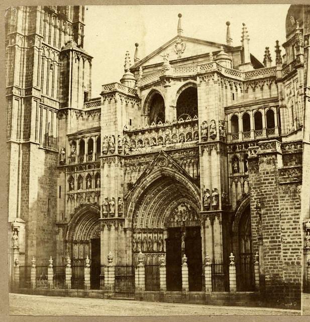 Catedral de Toledo en 1857 por Eugène Sevaistre. Archivo Municipal, Ayuntamiento de Toledo (Colección Luis Alba)