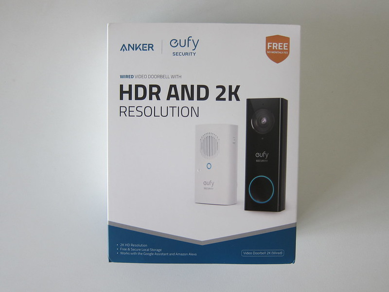 Eufy Video Doorbell 2K (Wired) - Box Front