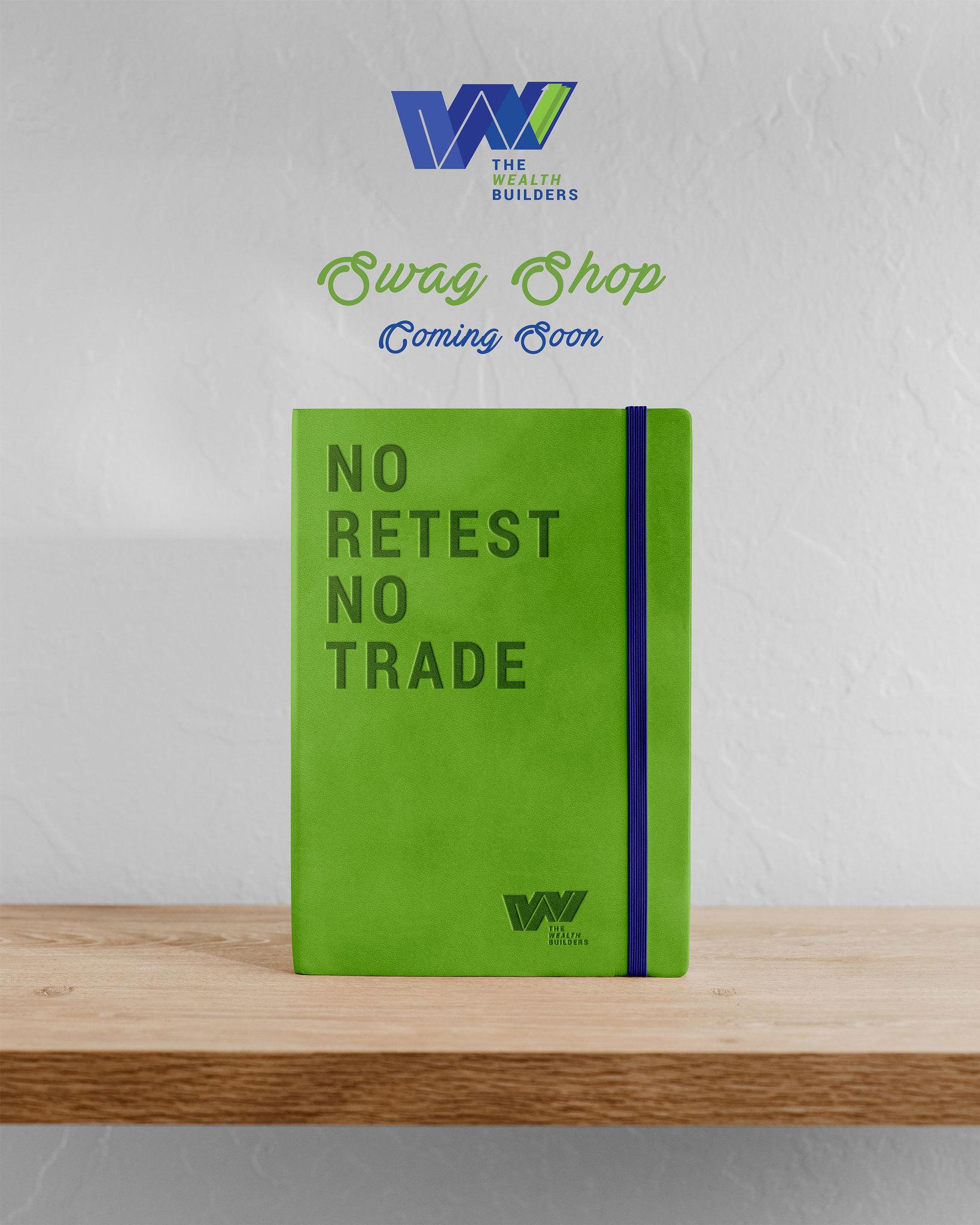 No Retest No Trade Journal Flyer