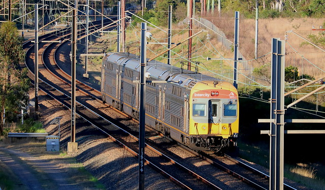 V SET 51 WORKING ALL-STATIONS NEWCASTLE INTERCHANGE TO GOSFORD - AWABA 23rd Sept 2021.