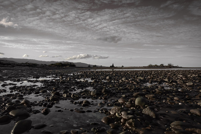 Rockpools in the fading light