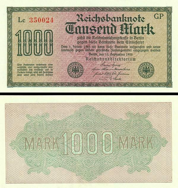 1000 Mariek Nemecko 1922, P76
