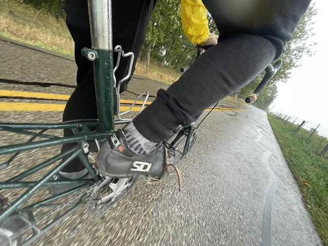 Damp Moulton ride