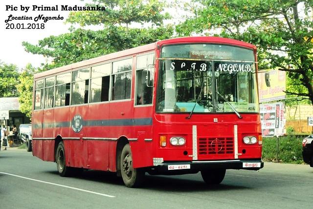 62-4251 Negombo Depot Isuzu Wesco Semi Luxury B type bus at Negombo in 20.01.2018