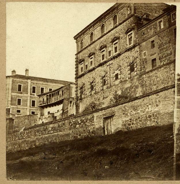 Convento de las Concepcionistas en el Paseo de Recaredo. Toledo en 1857 por Eugène Sevaistre. Archivo Municipal, Ayuntamiento de Toledo (Colección Luis Alba)