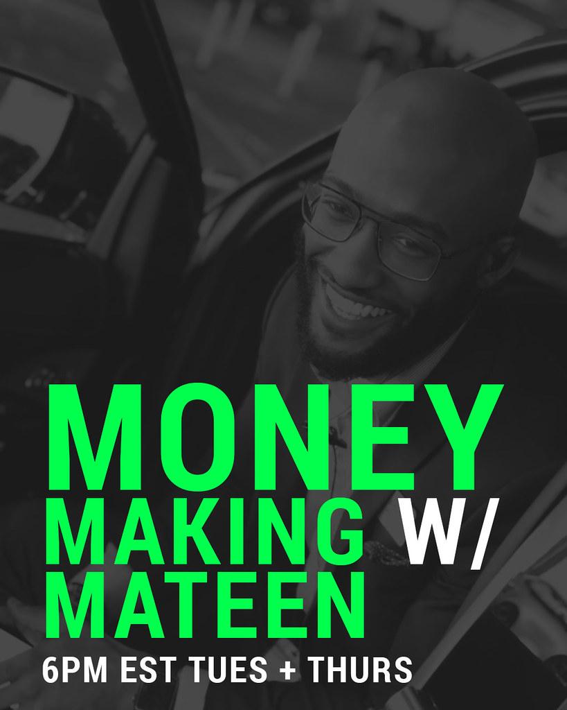 Money Making with Mateen Live Webinar Flyer