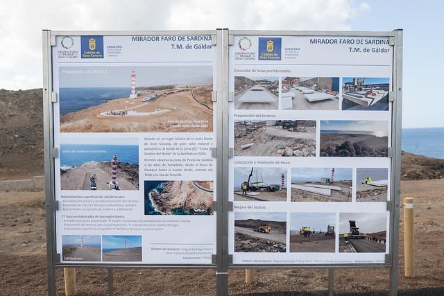 Inauguración del Faro de Sardina