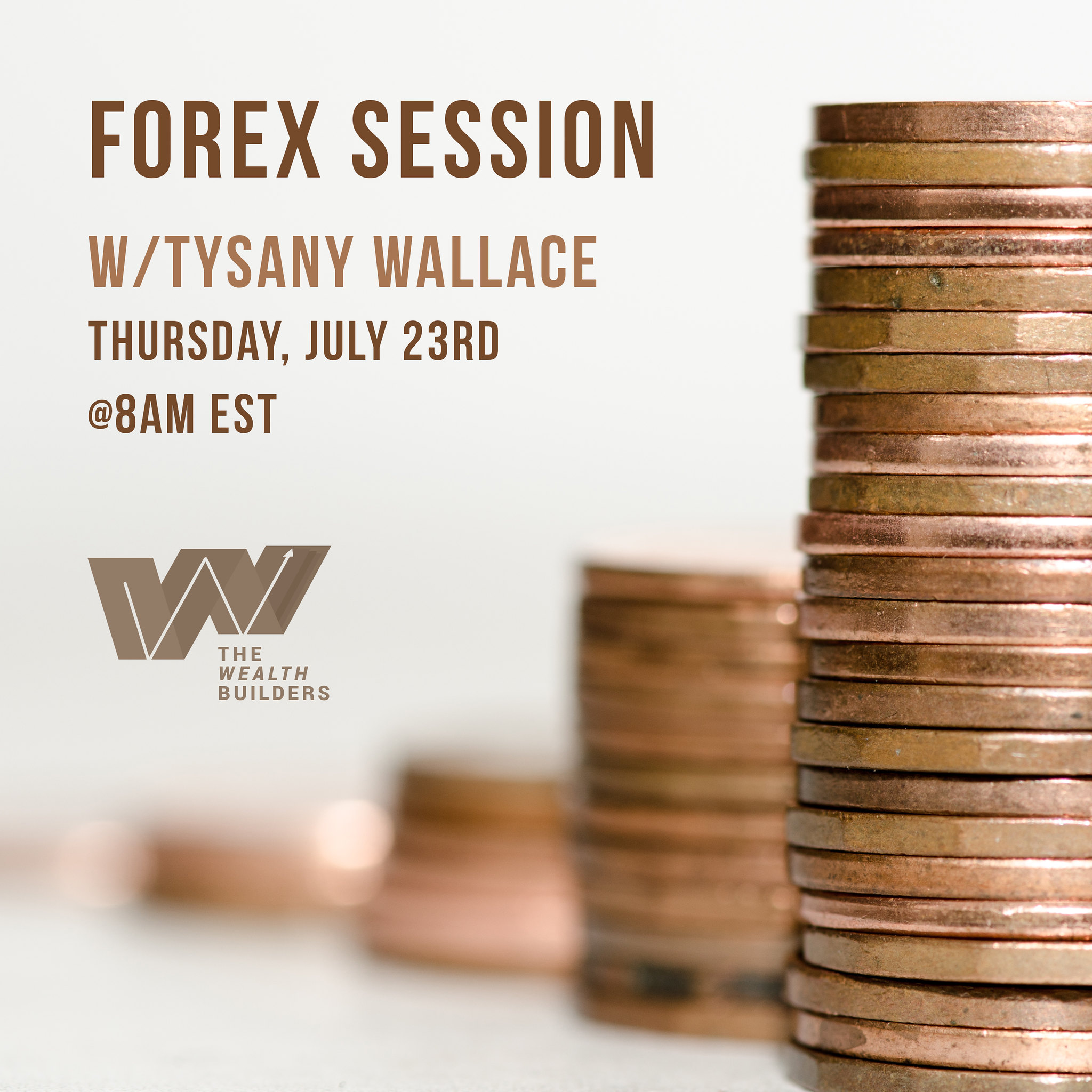 Live Trading Session Flyer