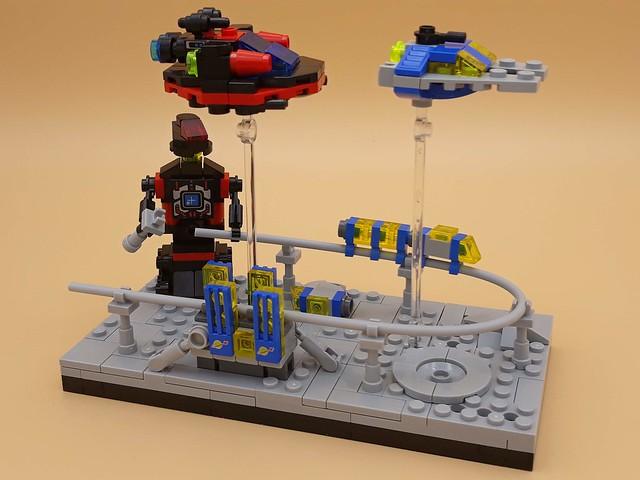 Mini-Moonbase - Spyrius Attacking the Monorail